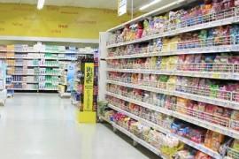 スーパーの棚